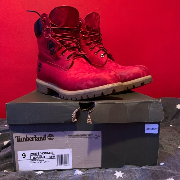 zegarek moda 100% autentyczności Timberlands boot red high